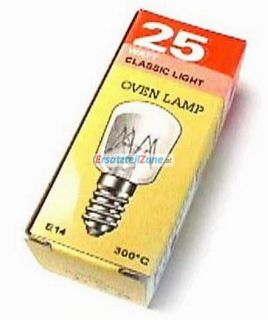 Backofenlampe E14 25W 300°