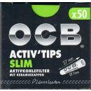 OCB ActivTips Slim 7mm 50Stk Aktivkohlefilter