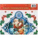 Fensterdeko weihnachtlich mit Glimmer 30x30 (diverses Motiv)